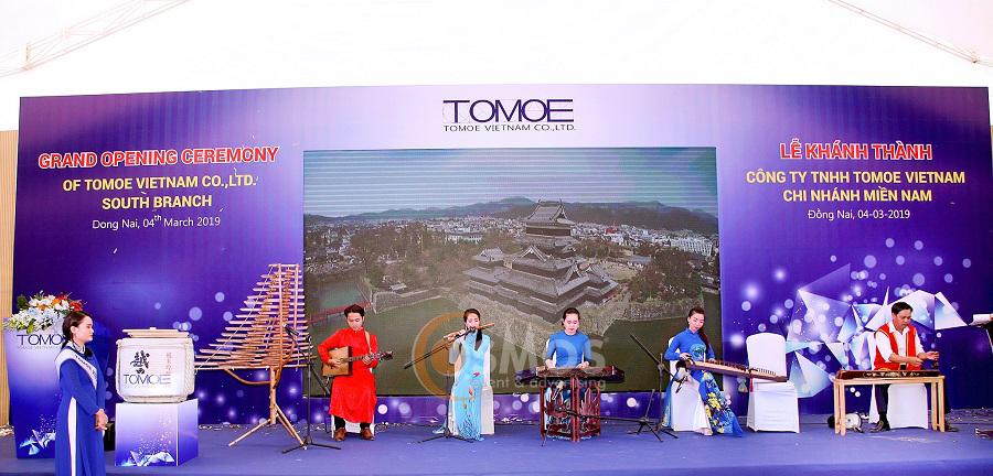 Tổ chức lễ khánh thành nhà máy tomoe vietnam